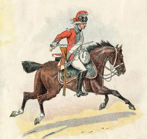 British 16th Light Dragoons: Battle of Paoli on 20th/21st September 1777 in the American Revolutionary War