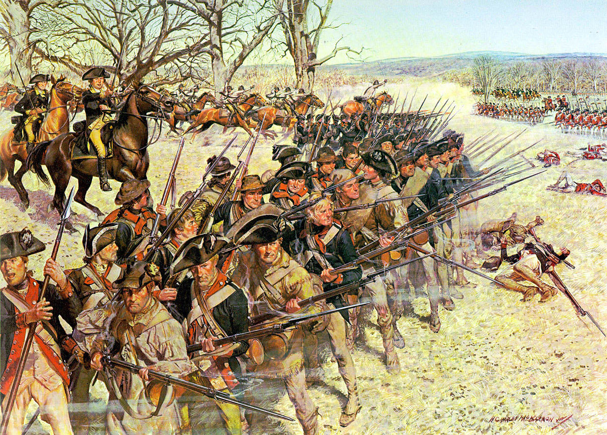 1st Continental Regiment at the Battle of Guilford Courthouse on 15th March 1781 in the American Revolutionary War