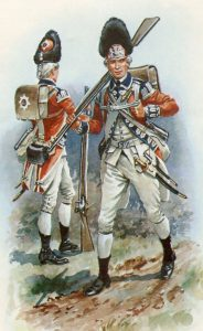 Grenadiers of the 2nd Coldstream Foot Guards: Battle of Guilford Courthouse on 15th March 1781 in the American Revolutionary War