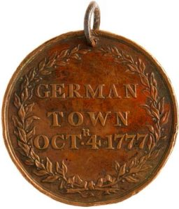 40th Regiment Medal obverse: Battle of Germantown on 4th October 1777 in the American Revolutionary War