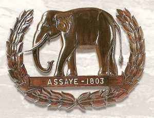 Elephant badge of the Madras Sappers and Miners awarded after the Battle of Assaye on 23rd September 1803 in the Second Mahratta War in India