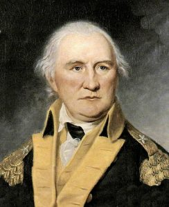 Brigadier Daniel Morgan, American commander at the Battle of Cowpens on 17th January 1781 in the American Revolutionary War: click here to buy a picture of Daniel Morgan