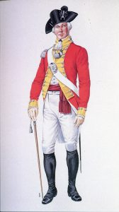 British officer: Battle of Yorktown 28th September to 19th October 1781 in the American Revolutionary War