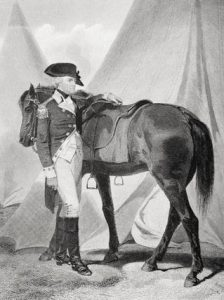 General 'Mad Anthony' Wayne, American commander at the Battle of Paoli on 20th/21st September 1777 in the American Revolutionary War: picture by Alonzo Chapell: click here to buy this picture