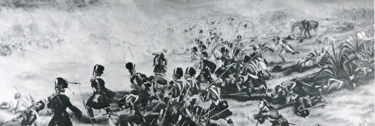 74th Highlanders at the Battle of Assaye on 23rd September 1803 in the Second Mahratta War in India