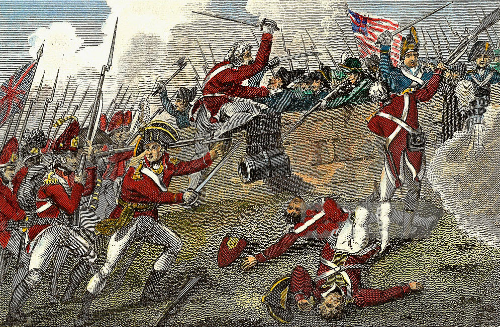 Battle of Bunker Hill on 17th June 1775 in the American Revolutionary War: click here to buy this picture