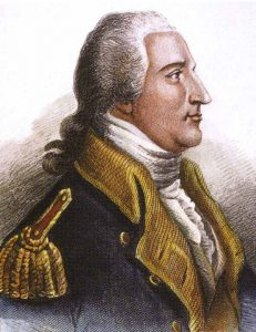 Major-General Benedict Arnold: Battle of Freeman's Farm on 19th September 1777 in the American Revolutionary War: click here to buy a picture of Benedict Arnold