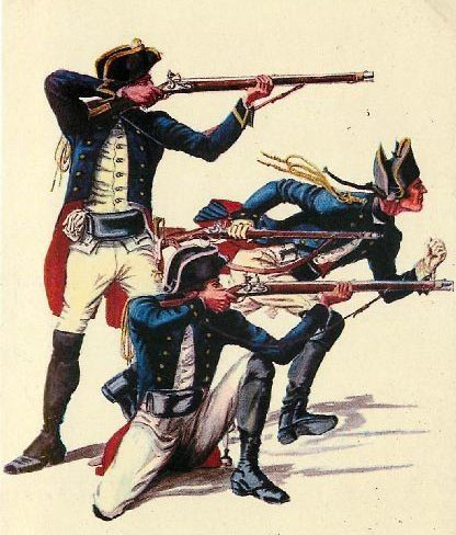 Brunswick Light Infantry: Battle of Hubbardton 7th July 1777 in the American Revolutionary War