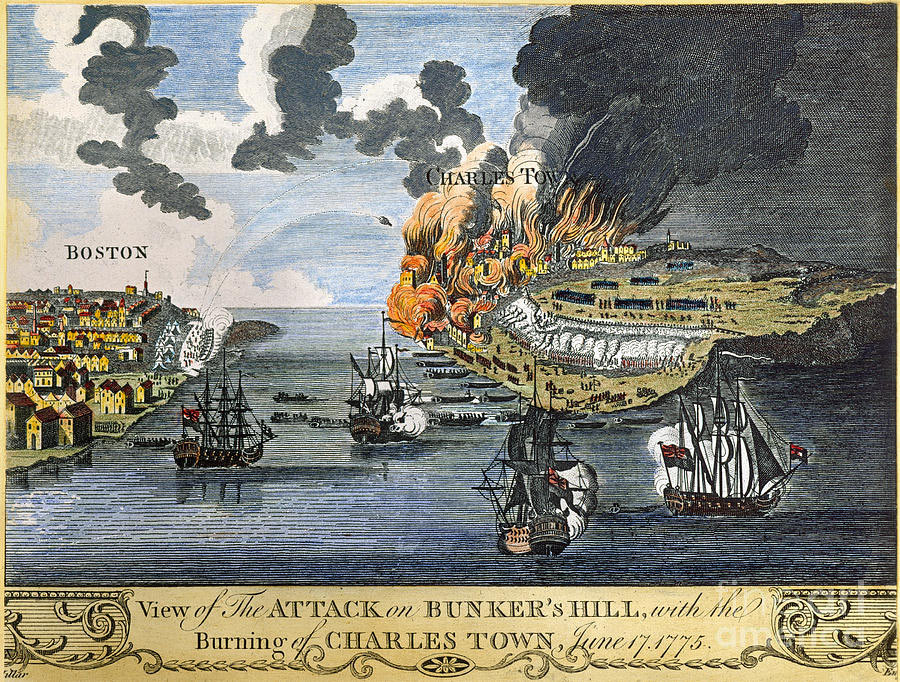 Battle of Bunker Hill on 17th June 1775 in the American Revolutionary War
