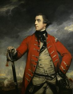 Major-General John Burgoyne: Battle of Saratoga on 17th October 1777 in the American Revolutionary War: picture by Joshua Reynolds: click here to buy this picture
