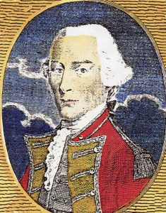 Major-General Charles 'No Flints' Grey commanding the British troops at the Battle of Paoli on 20th/21st September 1777 in the American Revolutionary War