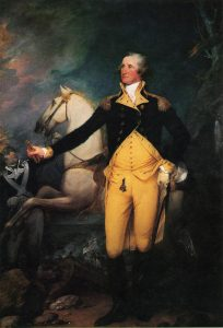 George Washington before the Battle of Trenton on 25th December 1776 in the American Revolutionary War: picture by John Trumbull: click here to buy this picture