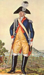 Brunswick Dragoon Officer: Battle of Bennington on 16th August 1777 in the American Revolutionary War