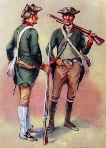 Seth Warner's Vermont Green Mountain Boys: Battle of Hubbardton on 7th July 1777 in the American Revolutionary War