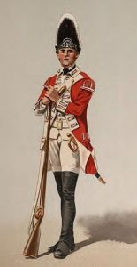 Grenadier of the British 40th Regiment of Foot: Battle of Germantown on 4th October 1777 in the American Revolutionary War