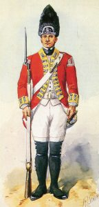 Grenadier 9th Foot: Battle of Fort Ticonderoga on 6th July 1777 in the American Revolutionary War