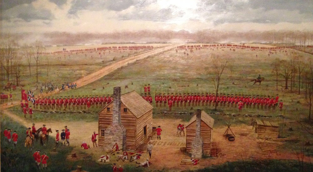 Battle of Guilford Courthouse on 15th March 1781 in the American Revolutionary War