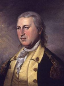 Major-General Horatio Gates: Battle of Saratoga on 17th October 1777 in the American Revolutionary War: click here to buy this picture