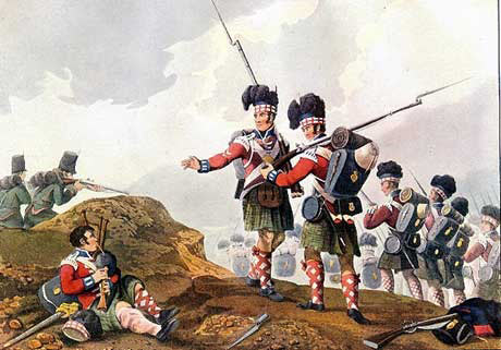 71st Highland Light Infantry and 60th Rifles at the Battle of Vimeiro on 21st August 1808 in the Peninsular War: buy this picture