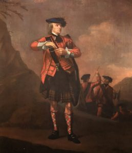 Highlander of 42nd 'Black Watch': Battle of Harlem Heights 16th September 1776 in the American Revolutionary War: picture by William Skeoch Cumming