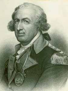 Major-General Horatio Gates: Battle of Freeman's Farm on 19th September 1777 in the American Revolutionary War: click here to buy a picture of Horatio Gates