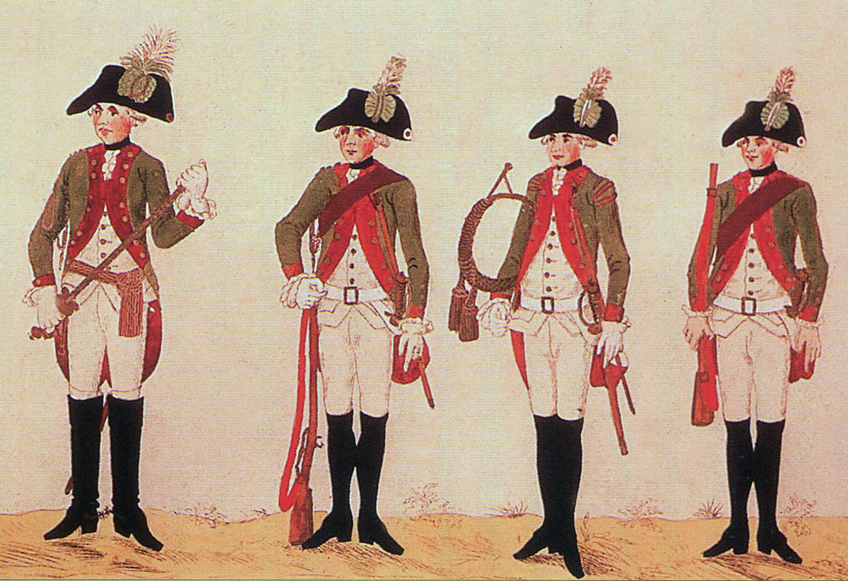 Hessian Jägers: Battle of Hubbardton on 7th July 1777 in the American Revolutionary War