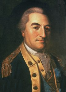 Baron Johan von Kalb, American officer fatally wounded at the Battle of Camden on 16th August 1780 in the American Revolutionary War: click here to buy a picture of Kalb