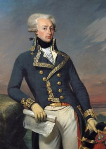 Marquis de Lafayette wounded at the Battle of Brandywine Creek on 11th September 1777 in the American Revolutionary War