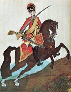Light Dragoon: Battle of Guilford Courthouse on 15th March 1781 in the American Revolutionary War