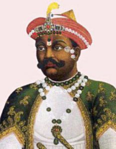 Madhaji Scindia, Mahratta commander at the Battle of Assaye on 23rd September 1803 in the Second Mahratta War in India