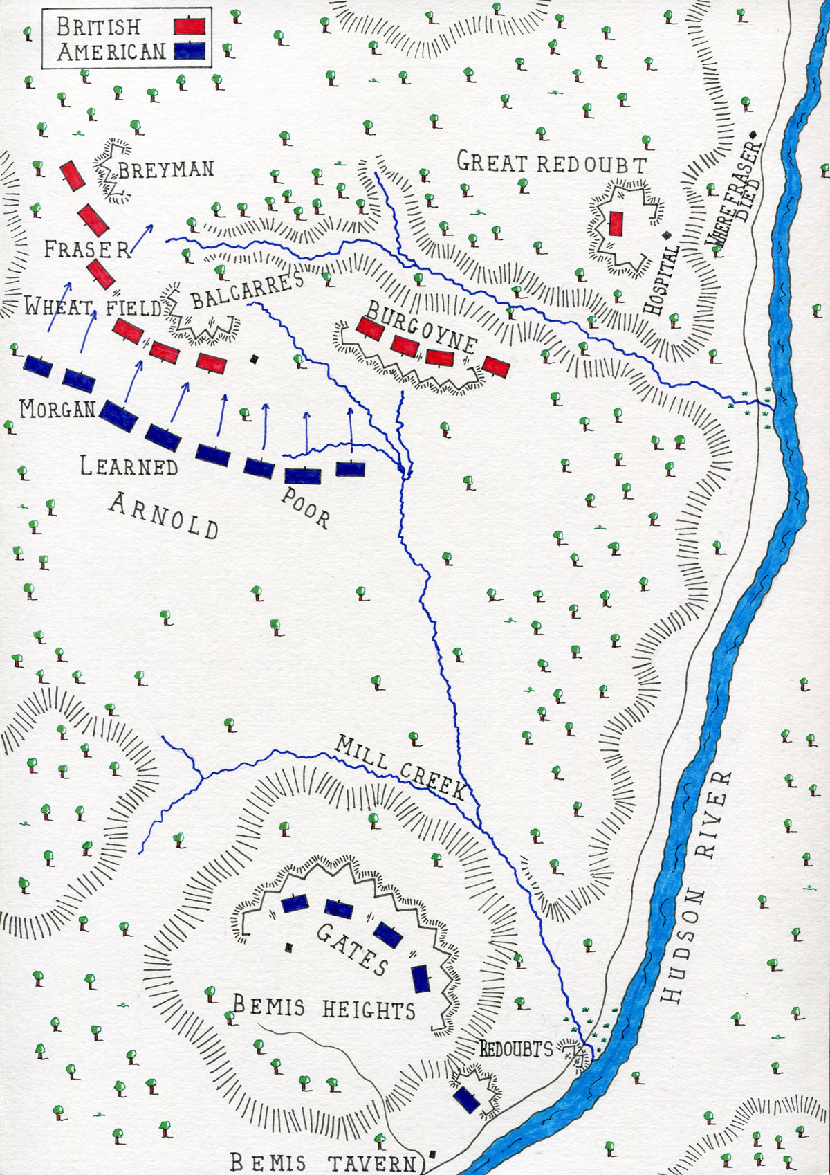 Battle Of Saratoga - Battle of saratoga us maps