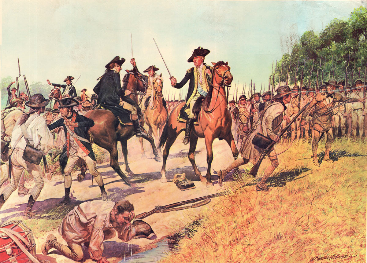 Battle of Monmouth on 28th June 1778 in the American Revolutionary War