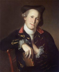 Mordecai Gist, officer in the American Continental Army at the Battle of Camden on 16th August 1780 in the American Revolutionary War