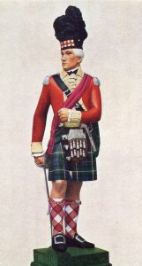 Officer of a highland regiment: Battle of Fort Washington on 17th November 1776 in the American Revolutionary War: statuette by Pilkington Jackson