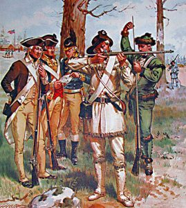Pennsylvania troops: Battle of Paoli on 20th/21st September 1777 in the American Revolutionary War