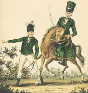 British Queen's Rangers: Battle of Germantown on 4th October 1777 in the American Revolutionary War