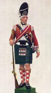 Sergeant of Grenadier Company in a Highland Regiment: Battle of Paoli on 20th/21st September 1777 in the American Revolutionary War: statuette by Pilkington Jackson