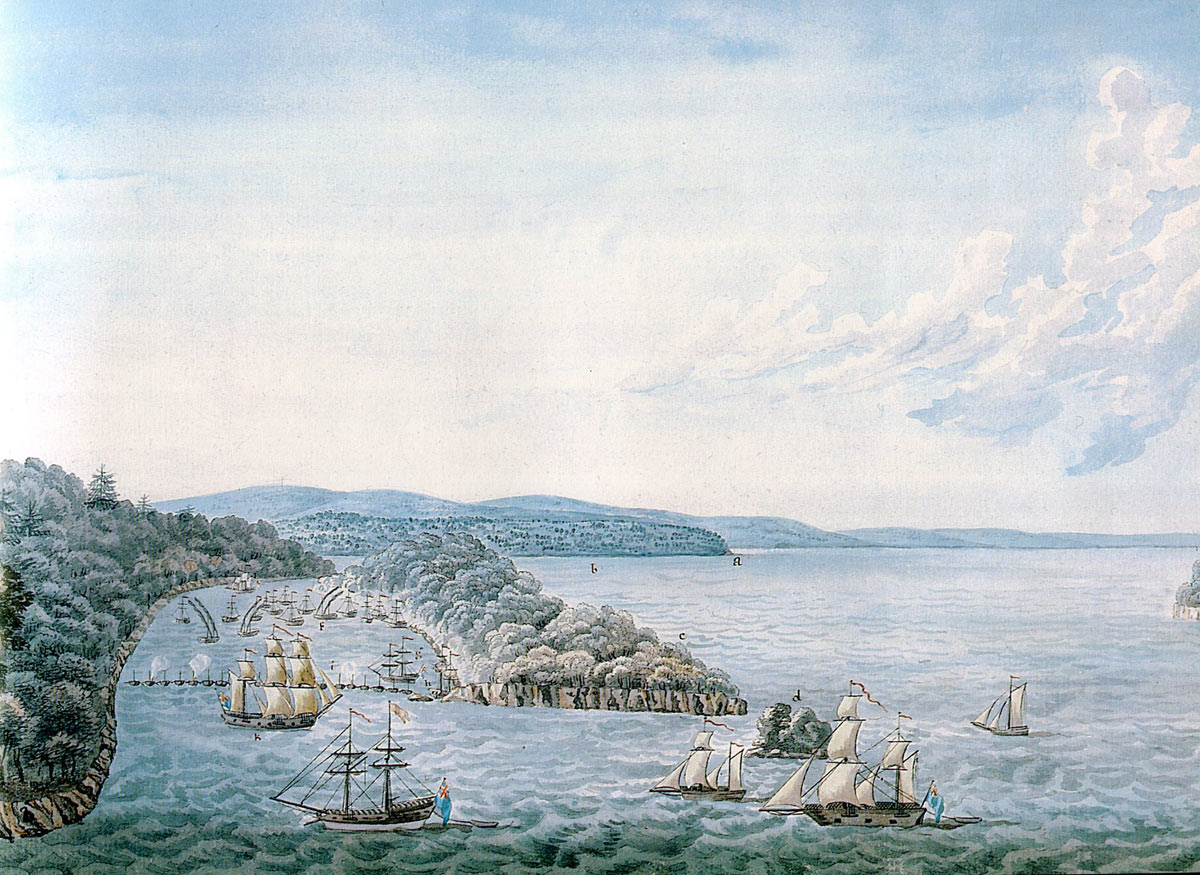 Battle of Valcour Island 11th to 13th July 1777 in the American Revolutionary War