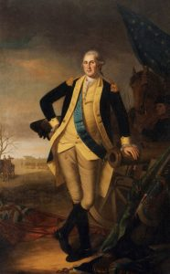 George Washington after the Battle of Princeton on 3rd January 1777 in the American Revolutionary War: picture by Charles Willson Peale: click here to buy this picture