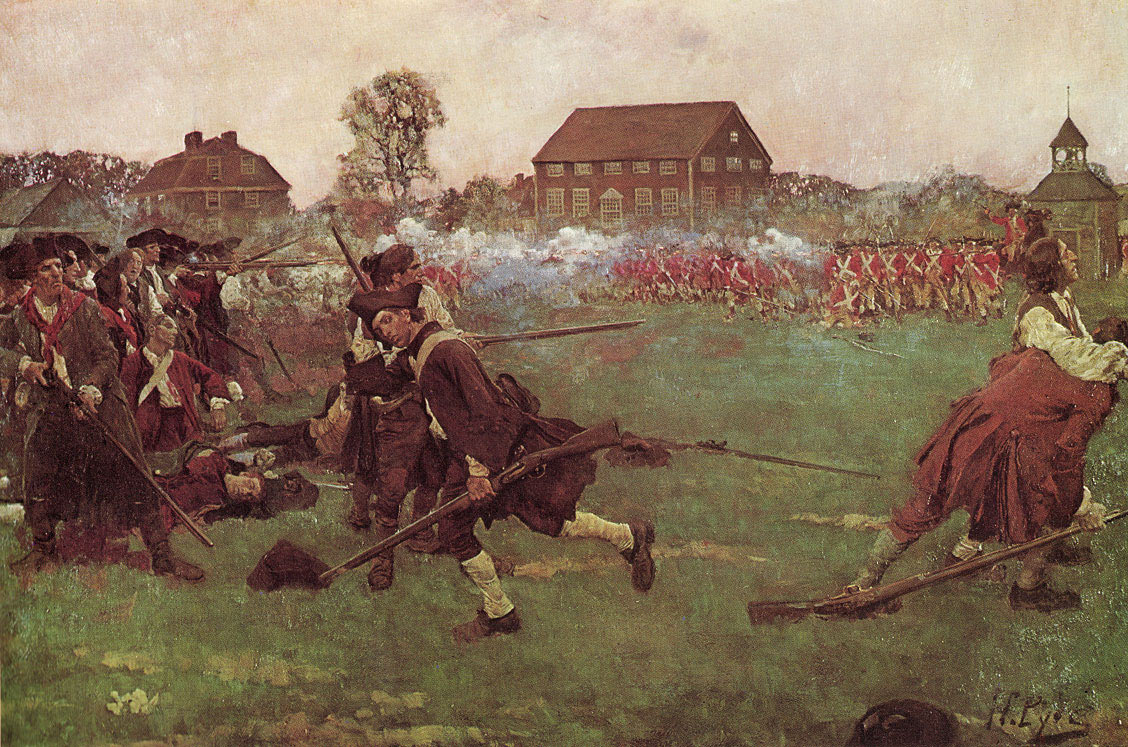 Battle on Lexington Green: Battle of Concord and Lexington 19th April 1775 American Revolutionary War
