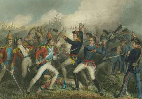 Battle of Bennington on 16th August 1777 in the American Revolutionary War: click here to buy this picture