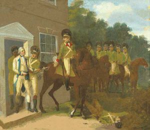 Charles Lee captured by Banastre Tarleton on 12th December 1776 at the Widow White's Tavern