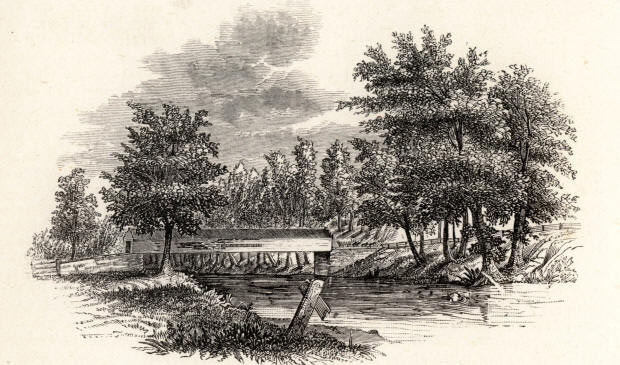 Chad's Ford: Battle of Brandywine Creek on 11th September 1777 in the American Revolutionary War