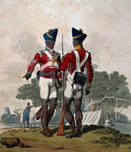 Sepoys of the Madras Army: Battle of Assaye on 23rd September 1803 during the Second Mahratta War in India: picture by Charles Hamilton Smith: buy this picture