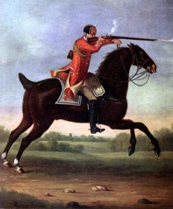 British Light Dragoon: Battle of Brandywine Creek on 11th September 1777 in the American Revolutionary War