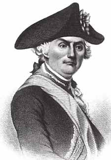 Major-General Horatio Gates, American commander at the Battle of Camden on 16th August 1780 in the American Revolutionary War: click here to buy a picture of Horatio Gates