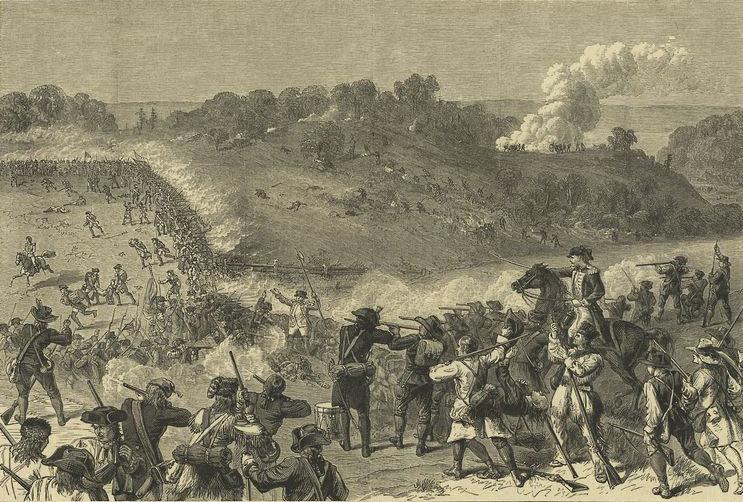 Battle of Harlem Heights 16th September 1776 in the American Revolutionary War