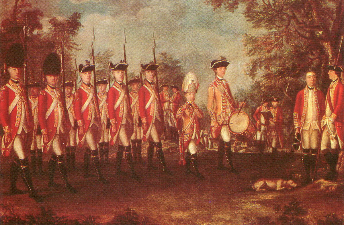 British 25th Regiment of Foot: Battle of Germantown on 4th October 1777 in the American Revolutionary War
