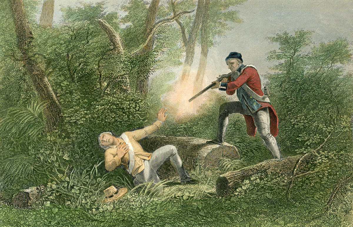Battle of Freeman's Farm on 19th September 1777 in the American Revolutionary War