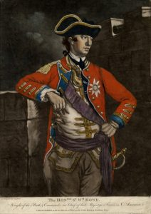 Major-General Sir William Howe: British, British commander at the Battle of Brandywine Creek on 11th September 1777 in the American Revolutionary War